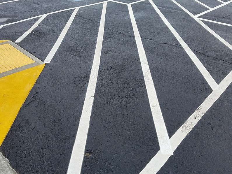 Asphalt Parking Lot Striping